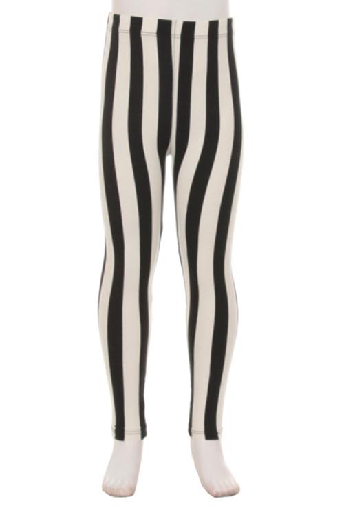 965a954b9355a Vertical Wide Stripe Kids Leggings | Only Leggings
