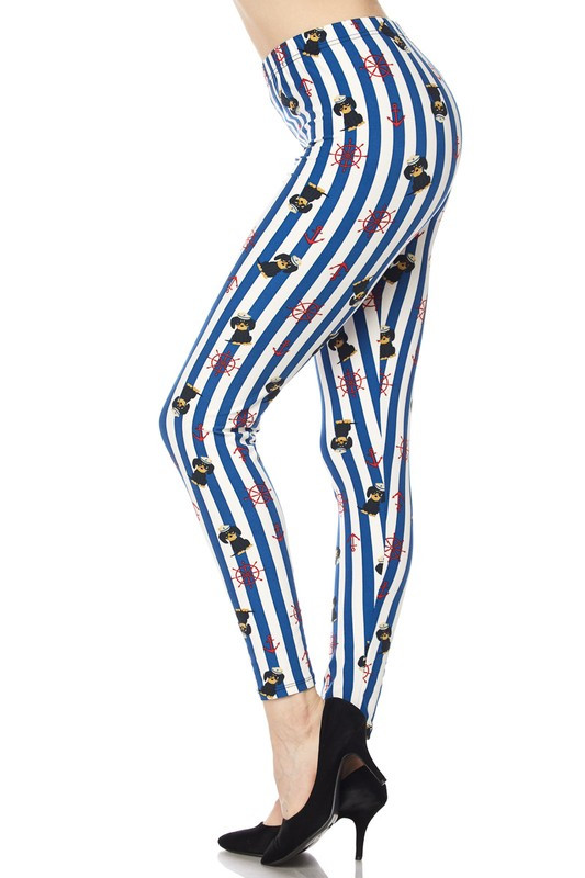 Sailor Pup Plus Size Leggings