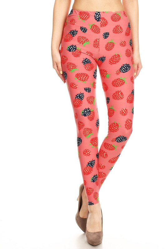 Brushed Very Berry Plus Size Leggings - 3X-5X
