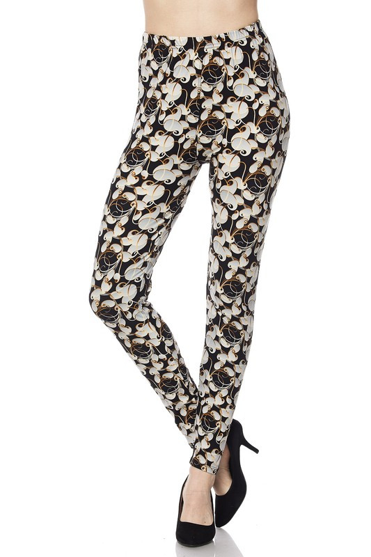 Brushed Ivory Petals Leggings