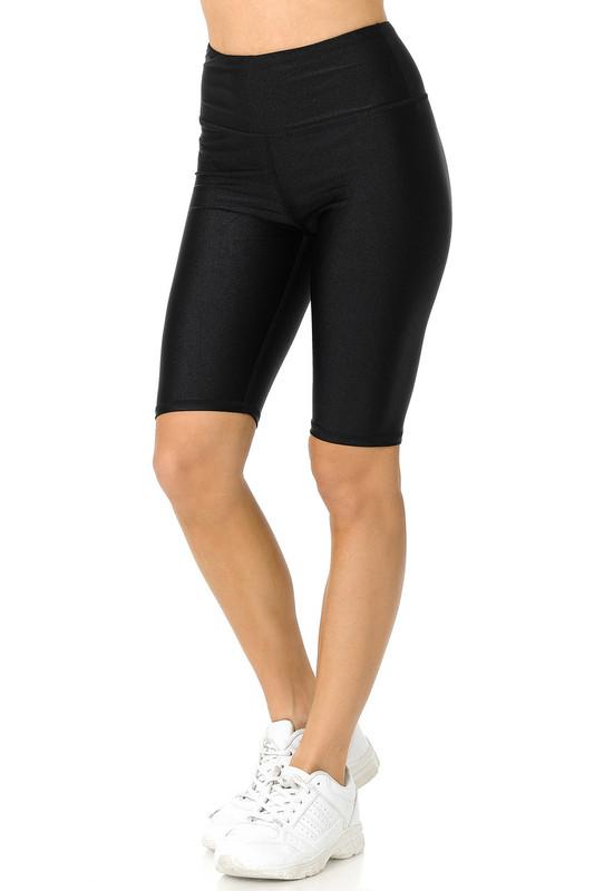 Liquid Shiny Athletic Sport Shorts