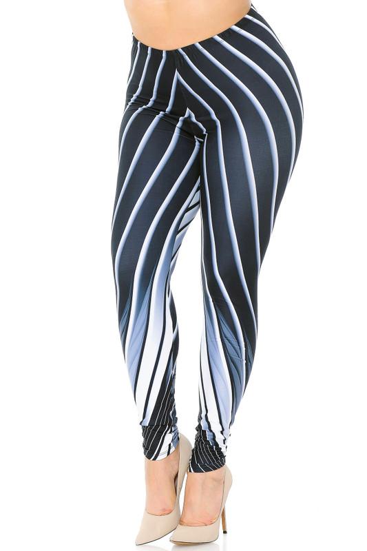 Creamy Soft Contour Body Lines Extra Plus Size Leggings - 3X-5X - USA Fashion™