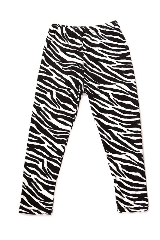Brushed Zebra Print Kids Leggings