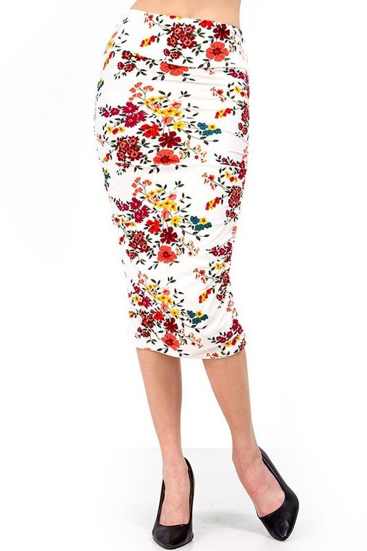 Brushed  Fresh Spring Floral Skirt