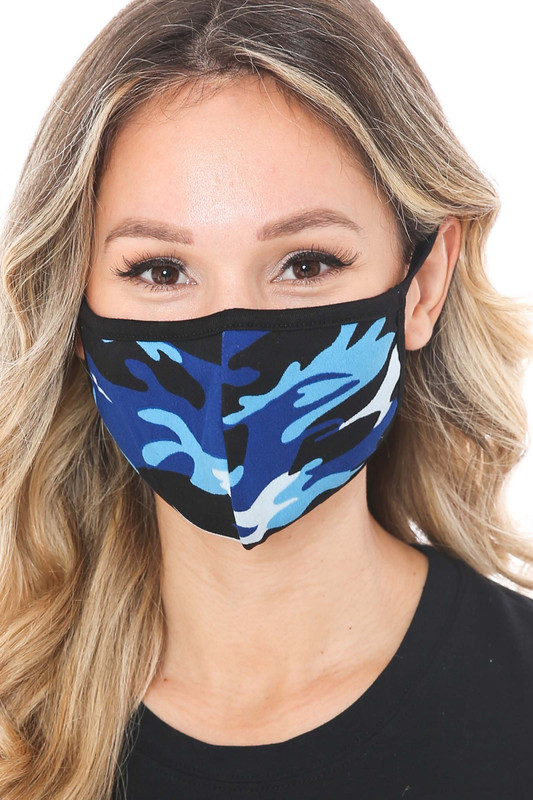 Colorful Camouflage Cotton Face Mask - Made in the USA