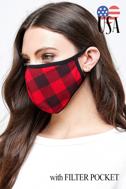 Checkered Plaid Face Masks - Made in the USA