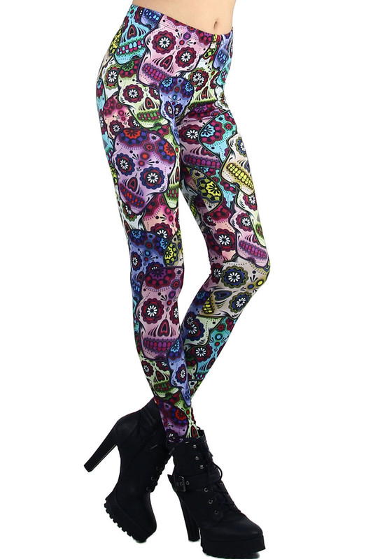 Sexy Sugar Skull Leggings