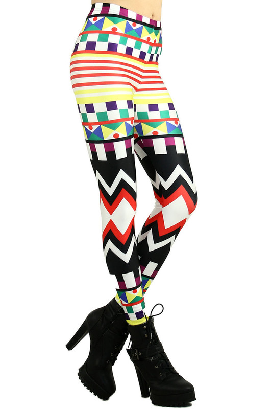 Kaleidoscopic Tribal Leggings