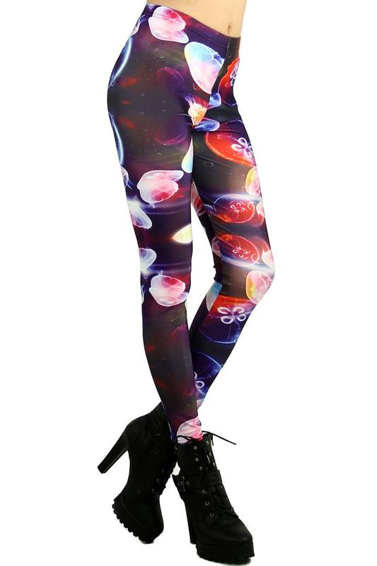 Glowing Jellyfish Leggings - Plus Size
