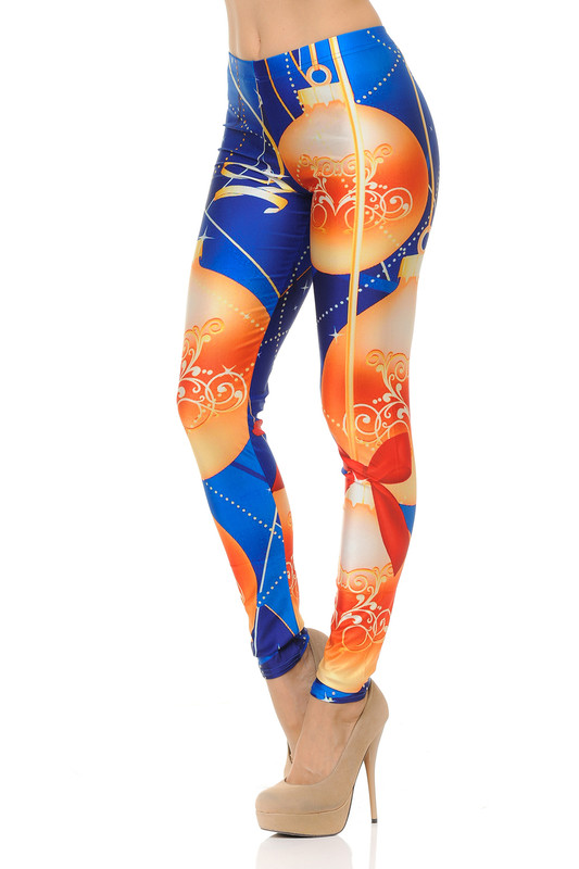 Elegant Holiday Ornament Leggings