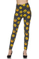 Brushed Retro Pixel Arcade Emoji Plus Size Leggings - 3X-5X