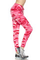 Brushed Pink Camouflage Joggers