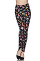 Brushed  Animal Balloon Plus Size Leggings