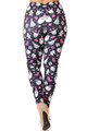 Creamy Soft Festive Pink Christmas Plus Size Leggings