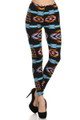 Front image of Brushed Sacred Tribal Leggings