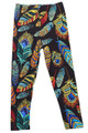 Brushed Florid Feathers Kids Leggings