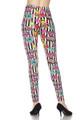 Brushed Stripes Love and Kisses Plus Size Leggings - 3X-5X
