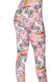 Brushed Pink Rainbow Unicorn Capris