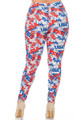 Brushed All Over USA Plus Size Leggings - 3X-5X
