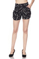 Brushed Musical Note Geometry Shorts