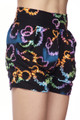 Brushed Blooming Neon Hearts Shorts