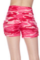 Brushed Pink Camouflage Shorts