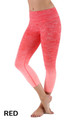 Red Ombre Fusion Workout Plus Size Capris
