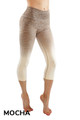 Mocha Ombre Fusion Workout Plus Size Capris