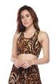 Soft Brushed Predator Leopard Women's Bra Top