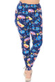 Soft Brushed Retro Campers Plus Size Leggings - 3X-5X