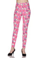 Soft Brushed Pink Puppy Dogs Leggings