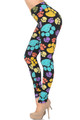 Soft Brushed Colorful Paw Print High Waisted Leggings - USA Fashion