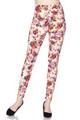 Soft Brushed Ginger Summer Floral Plus Size Leggings