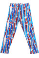 Soft Brushed Metallic USA Flag Kids Leggings