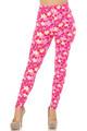 Soft Brushed Pink Daisy Plus Size Leggings