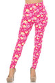 Buttery Soft Pink Daisy Extra Plus Size Leggings - 3X-5X