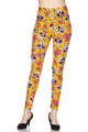 Soft Brushed Mustard Summer Sugar Skull Leggings