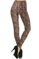 Front image of Soft Brushed Feral Cheetah Leggings