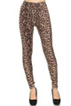 Back image of Soft Brushed Feral Cheetah Leggings