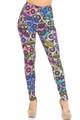 Creamy Soft Sugar Skull Extra Small Leggings - USA Fashion™