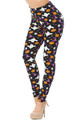 Buttery Soft Trick or Treat Halloween Plus Size Leggings