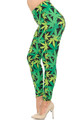 Brushed Cannabis Marijuana Plus Size Leggings - EEVEE