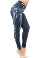Creamy Soft Black Bio Mechanical Skeleton Plus Size Leggings (Steam Punk) - USA Fashion™
