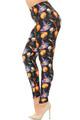 Brushed Pumpkins Witch's Watercolor Halloween Leggings