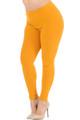 Brushed Basic Solid Extra Plus Size Leggings - 3X-5X - New Mix
