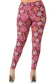 Brushed Festive Snowflake Ornaments Extra Plus Size Leggings - 3X-5X