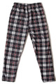 Brushed Burgundy Stripes Plaid Kids Leggings