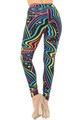 Brushed Rainbow Bash Plus Size Leggings