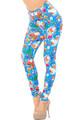 Creamy Soft Festive Blue Christmas Leggings