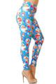 Creamy Soft Gorgeous Blue Christmas Plus Size Leggings